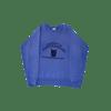contraband collegiate crewneck navy blue on royal blue