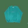 contraband star logo crewneck green on aqua