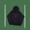 contraband collegiate hoodie brown on black