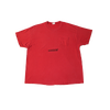 contraband star logo tee black on red