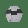 contraband star logo crewneck black on grey