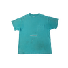 contraband star logo tee green on aqua