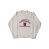 contraband collegiate crewneck brown on white