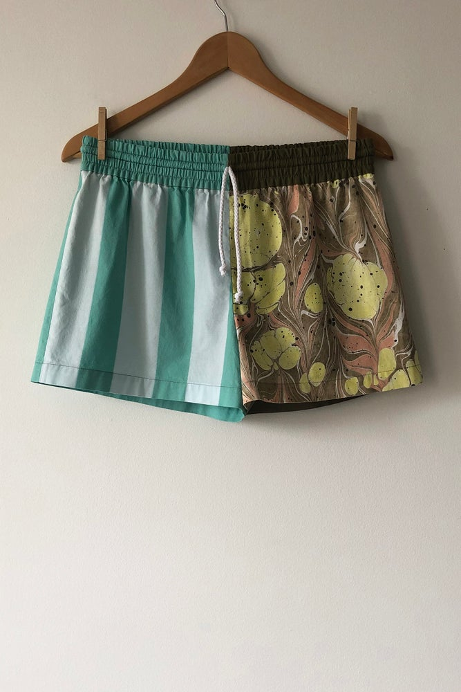 Image of Mixed Print Shorts - No. 2
