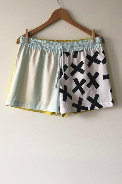 Image of Mixed Print Shorts - No. 10