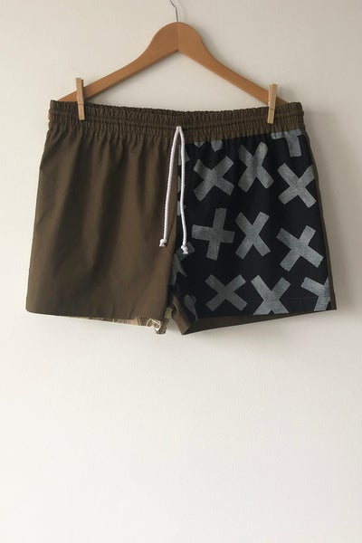Image of Mixed Print Shorts - No. 11