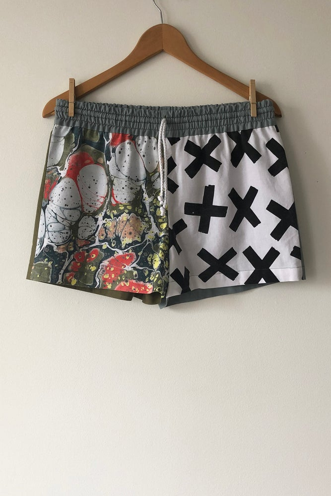 Image of Mixed Print Shorts - No. 6