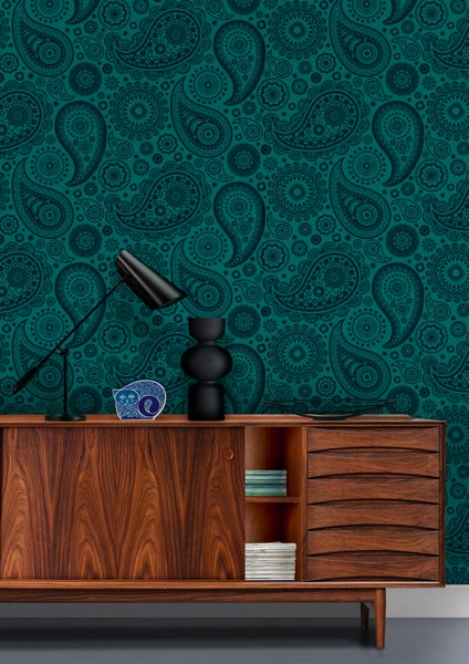 Image of Paisley Crescent Wallpaper - Lido