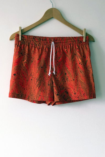 Image of MARBLE Shorts - Tangerine