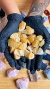 PREMIUM ORANGE CALCITE CHUNKS , MEDIUM -MEXICO