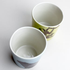 Image of set of two 12oz tumblers, sloth and capybara