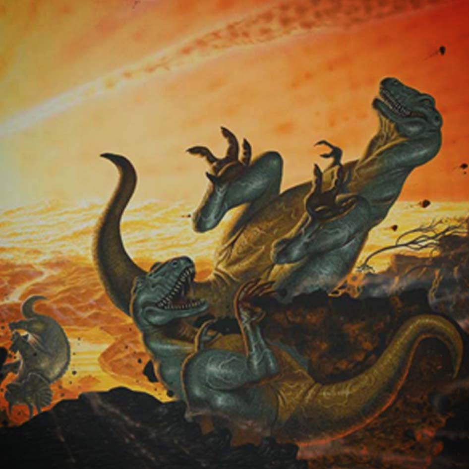 Image of Apocalypse of The Dinosaurs A3 print – CLEARANCE SALE