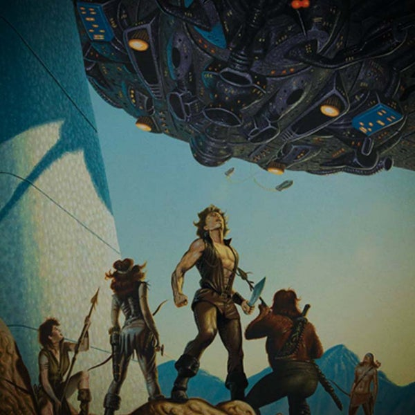 Image of Alien Citadel A3 print – CLEARANCE SALE