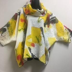 Image of Zen Top - Happy Times - Hand Painted European Handkerchief Linen