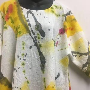 Image of Frida Linen/b - European Linen Dress/Tunic - Hand Painted
