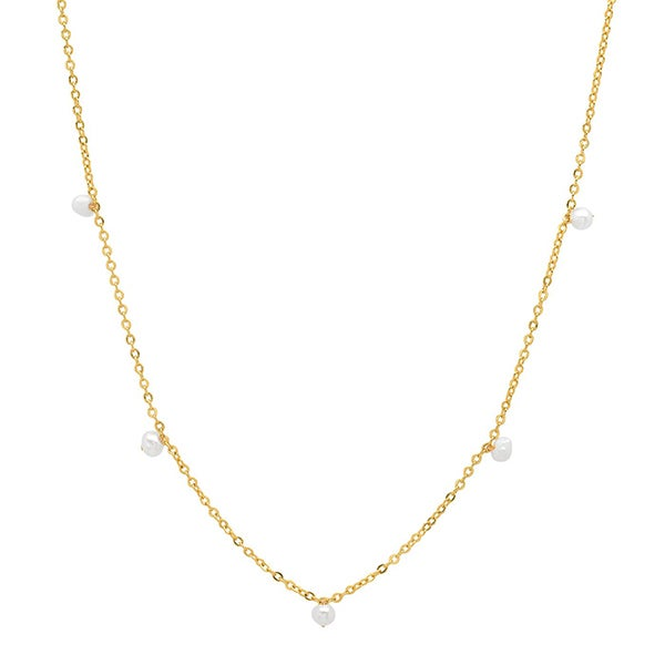 Image of  Tiny Pearl Stationary Necklace
