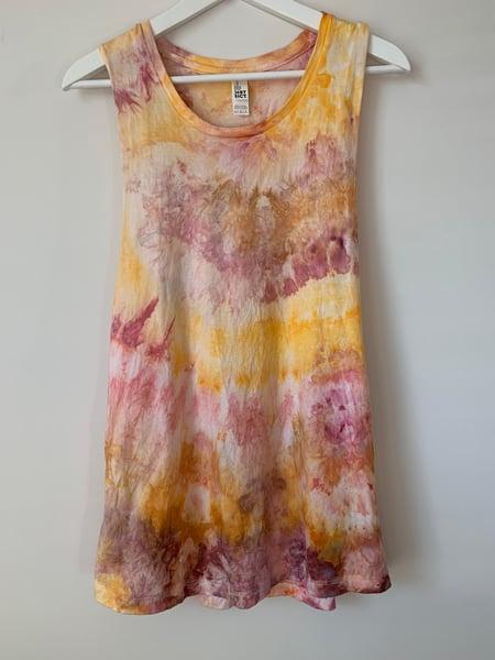 Image of Tie Dye Large Women's Tank (Lemonade)