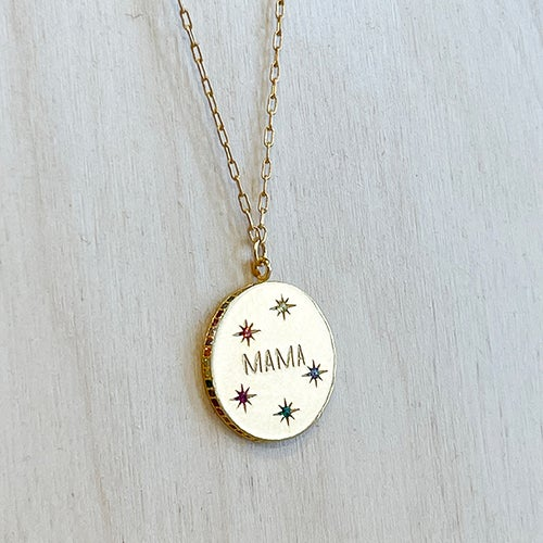 Image of GOLD MAMA COIN PENDANT NECKLACE