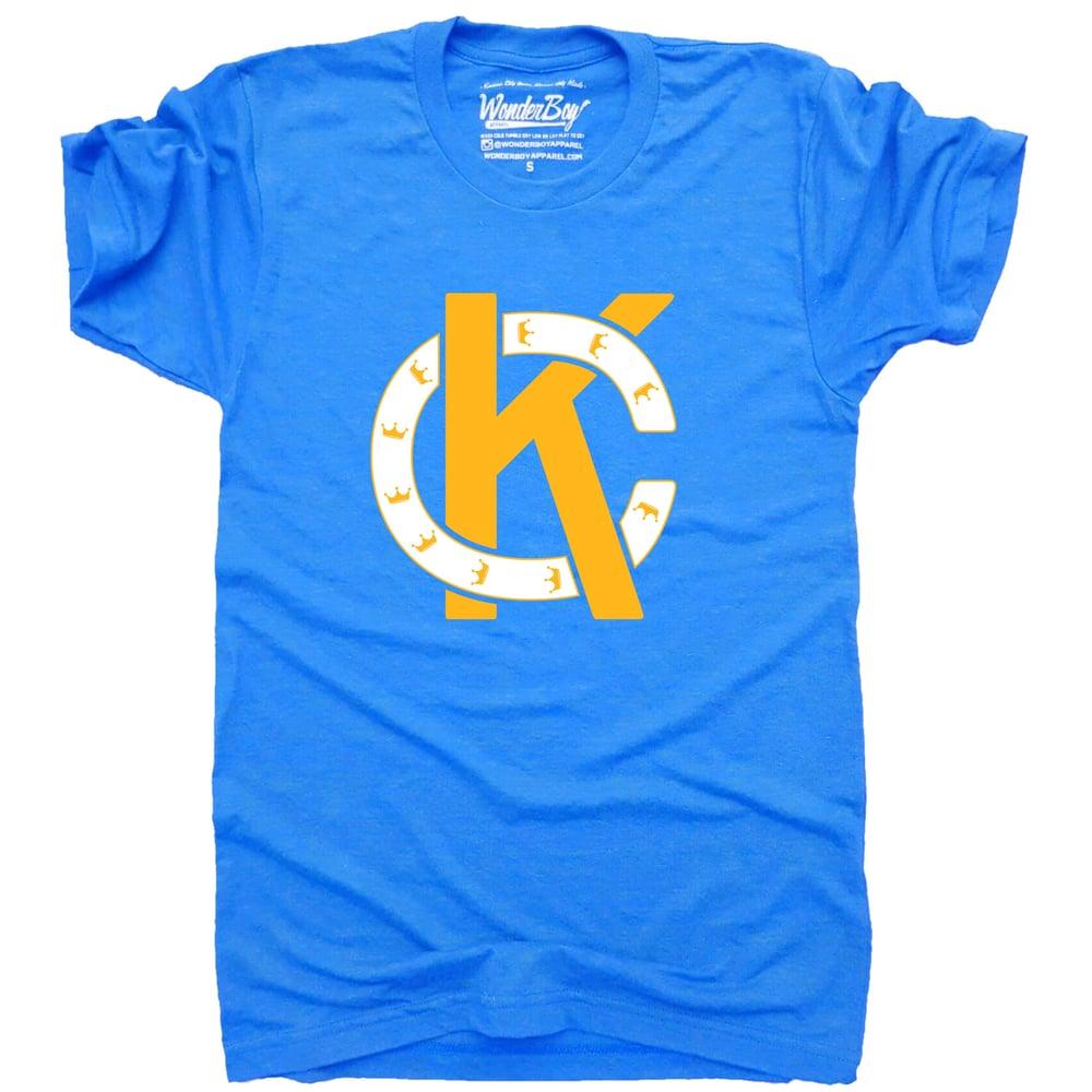 Image of Blue KC monogram