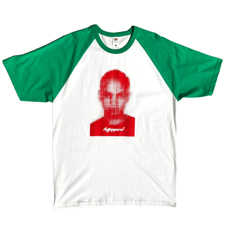 Image of White/Green - Red FIKE Baseball Tee