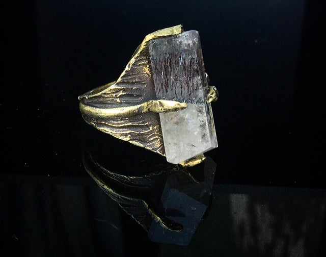 Image of Thin Air ring with Rutilated Quartz