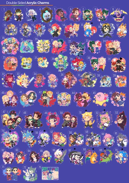 Image of [Preorders] Double Sided Acrylic Charms