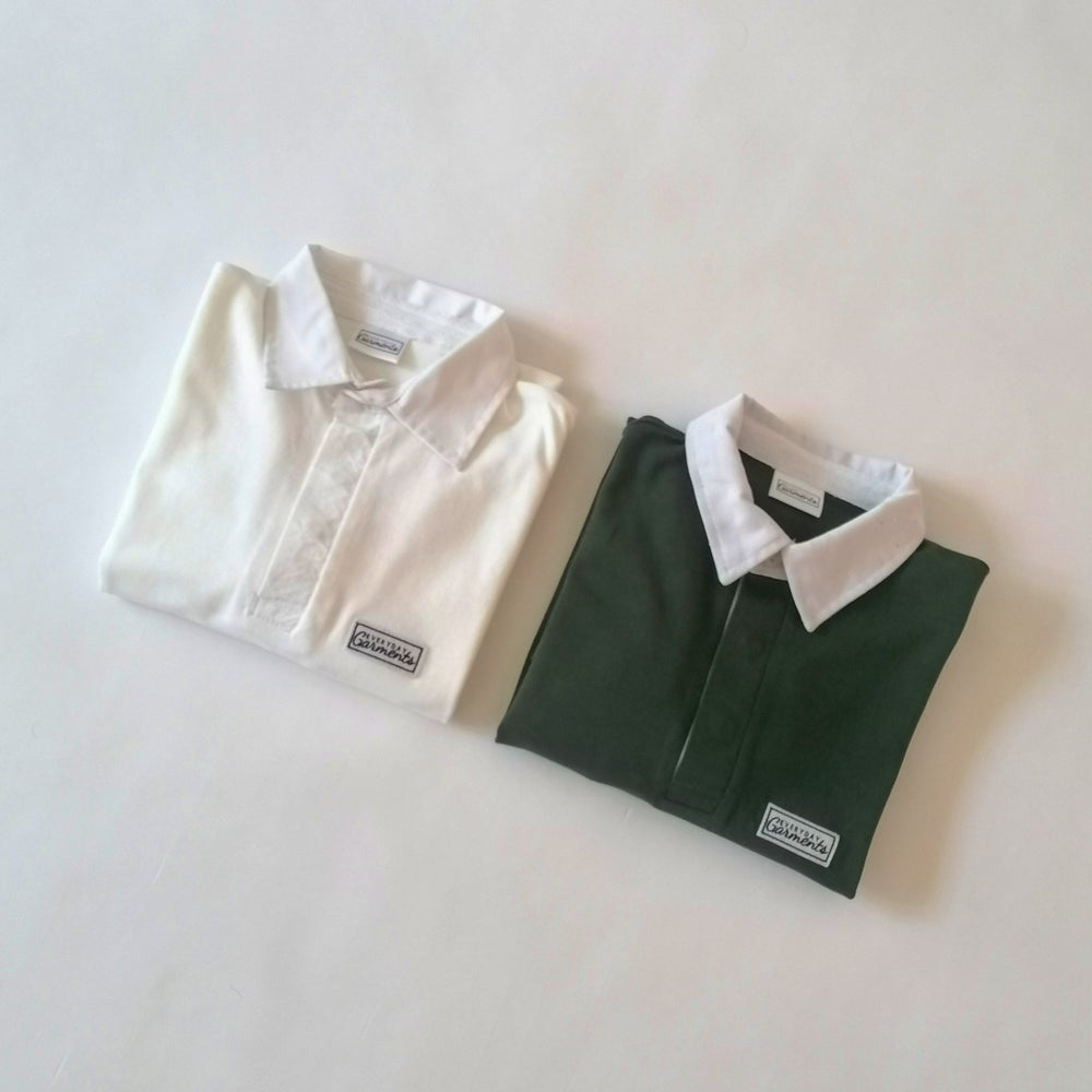 Image of EVERYDAY GARMENTS NAVY, GREEN AND WHITE JERSEY TOP