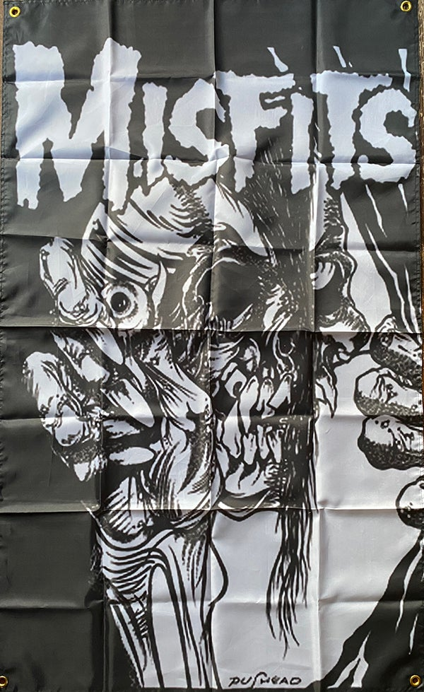 "Image of Misfits "" Devil Lock Skull "" Flag / Banner / Tapestry"