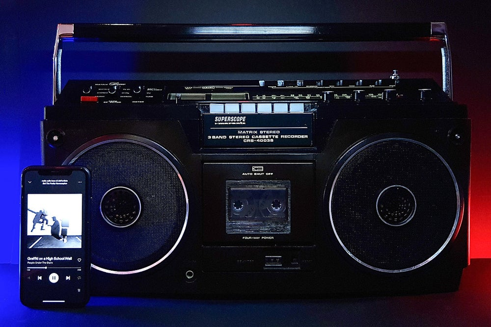 Image of MARANTZ SUPERSCOPE BLACK (1978) BLUETOOTH BOOMBOX