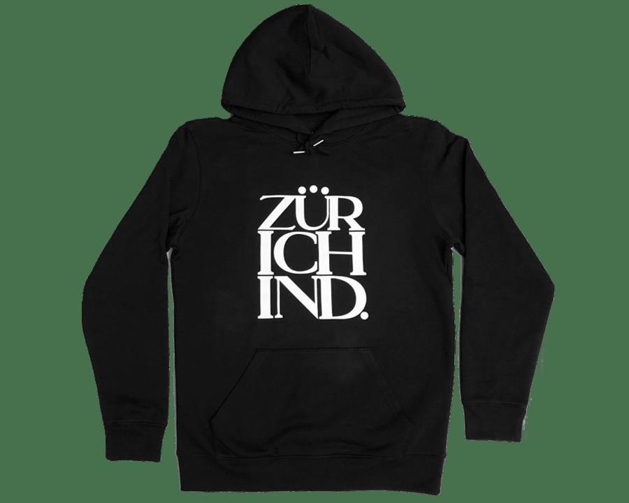 Image of ZÜRICHIND classic - Hoodie schwarz