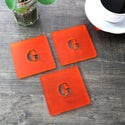 Monogrammed Placemat and Coaster Set
