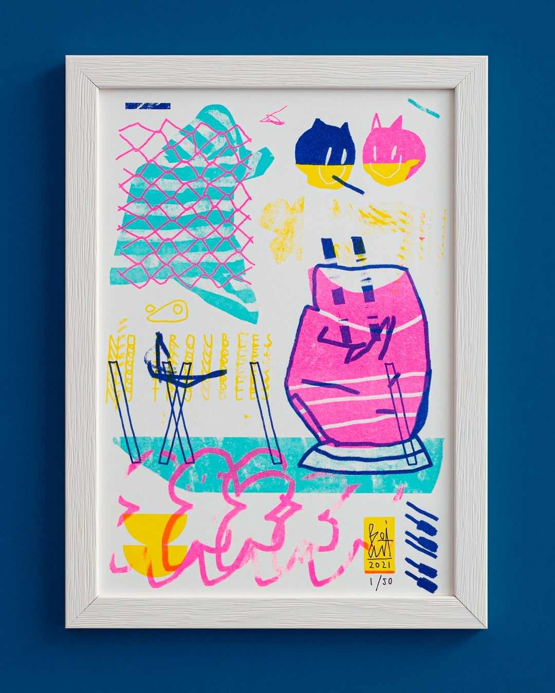 Image of NO PROBLEMS / RISO PRINT