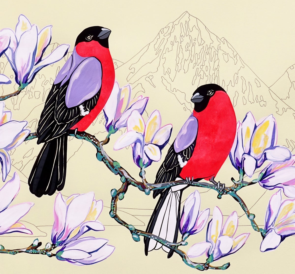 Image of Bullfinches and Atalanta