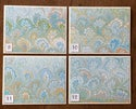 Marbled Notecards Spring Bouquet on White