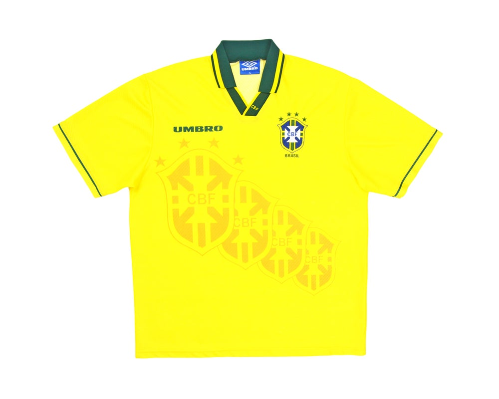 Image of 1994-97 Umbro Brazil Home Shirt XL
