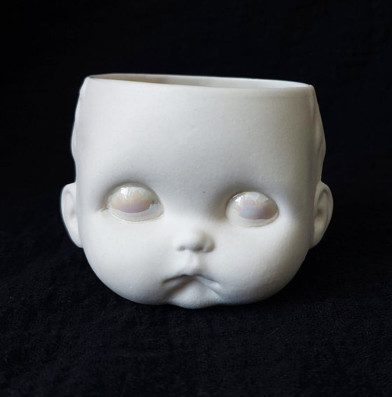 Image of Doll head tealight holder (sad)