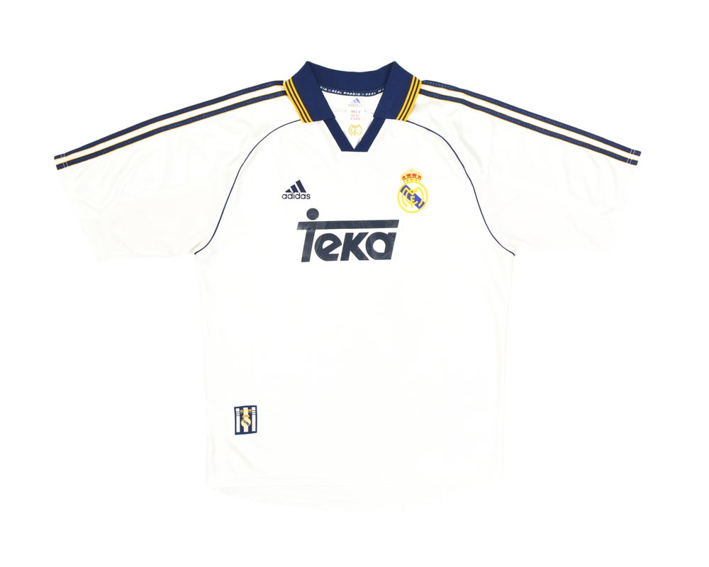 Image of 1998-00 Adidas Real Madrid Home Shirt L