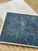 Marbled Notecards Spring Bouquet on Imperial Blue