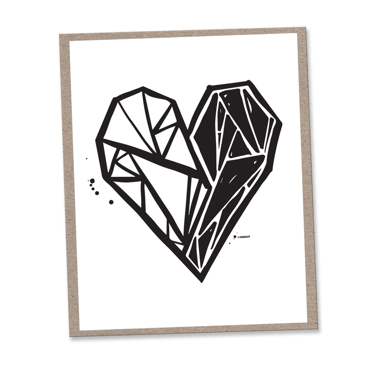 Image of FRACTURED HEART #kbscript print