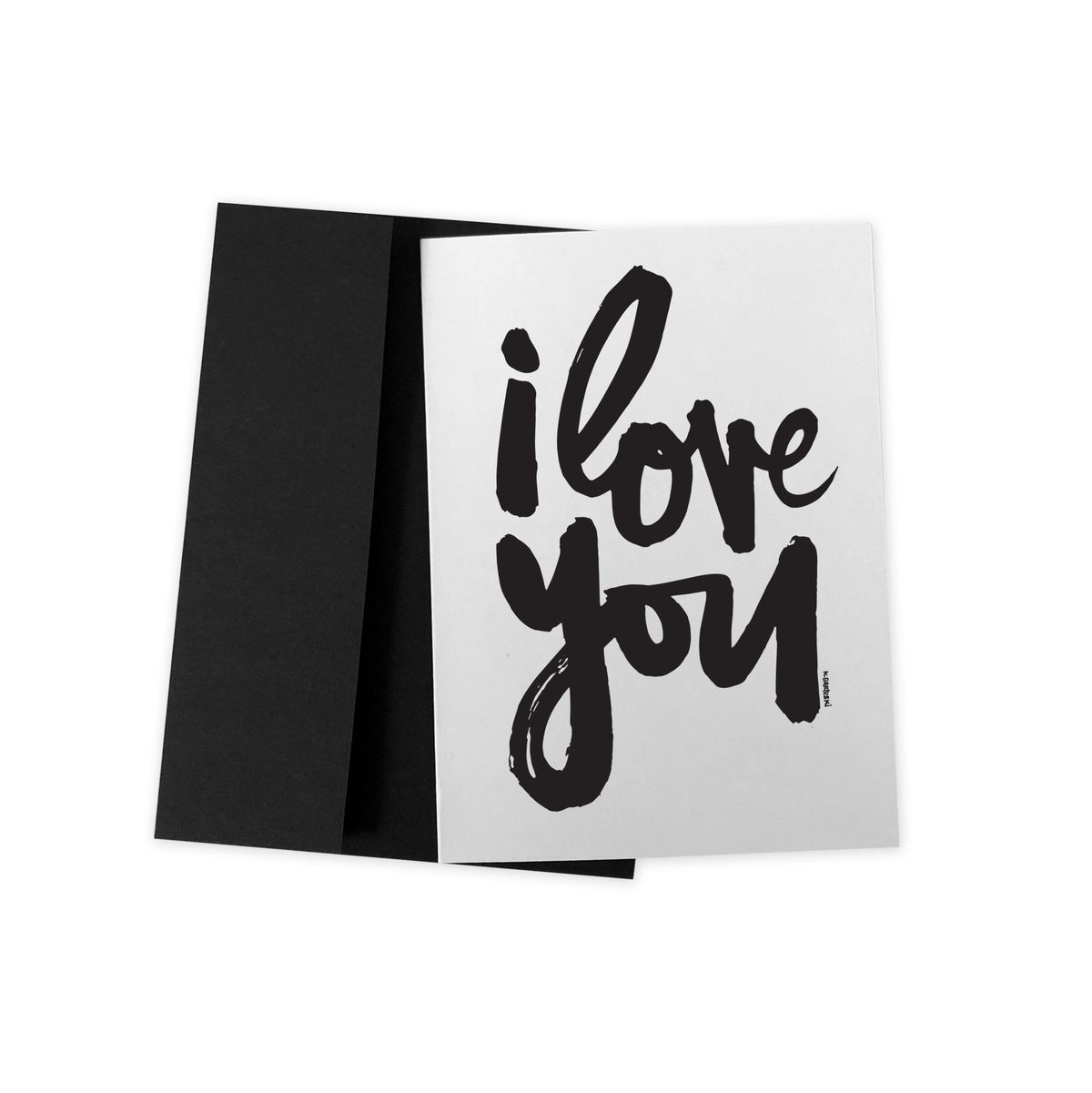 Image of i LOVE YOU #kbscript greeting card