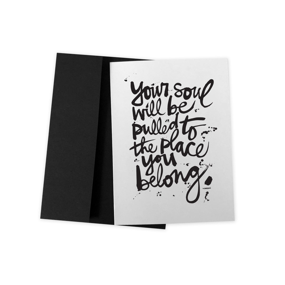 Image of YOUR SOUL #kbscript greeting card