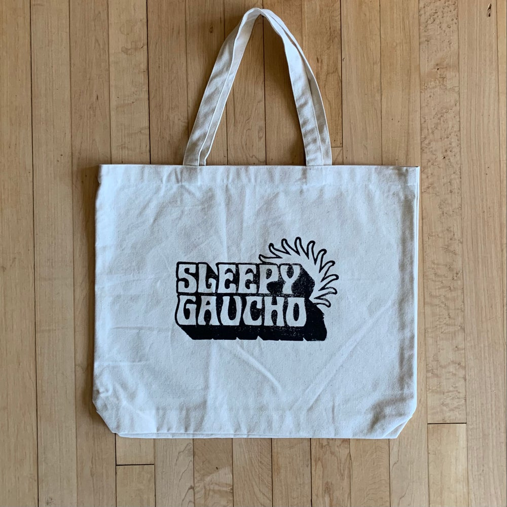 Image of Sleepy Gaucho tote bag