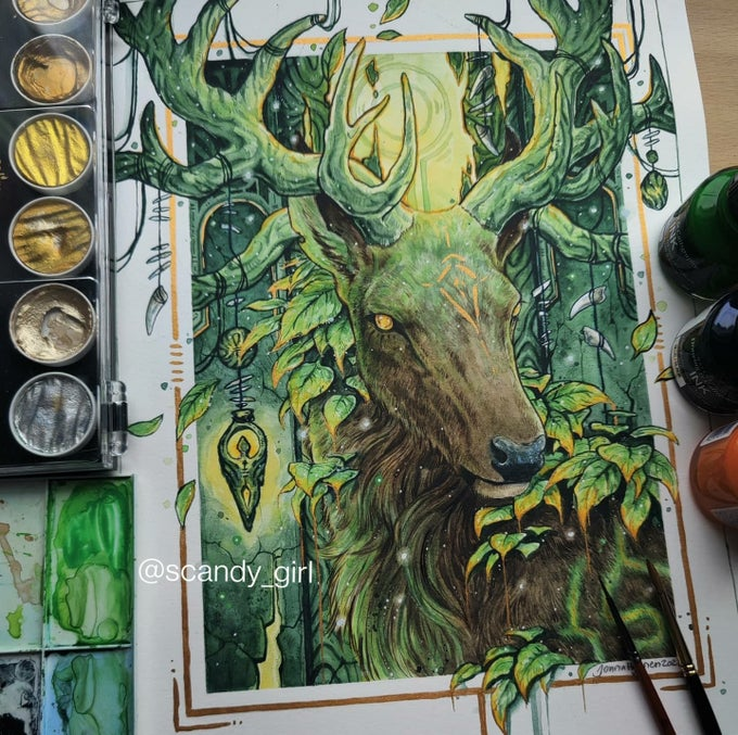 Image of Spirits of the Old Forest- Deer