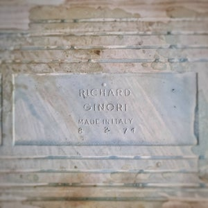 Ancien carreau de céramique Richard Ginori dessous de plat