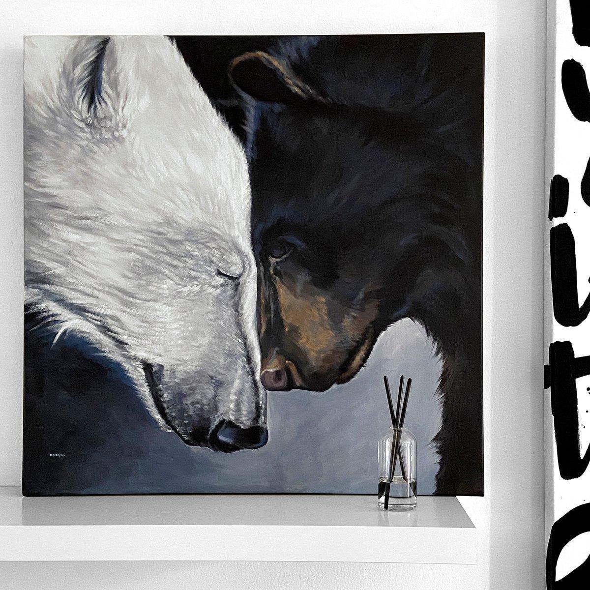 Image of 2 BEARS original painting