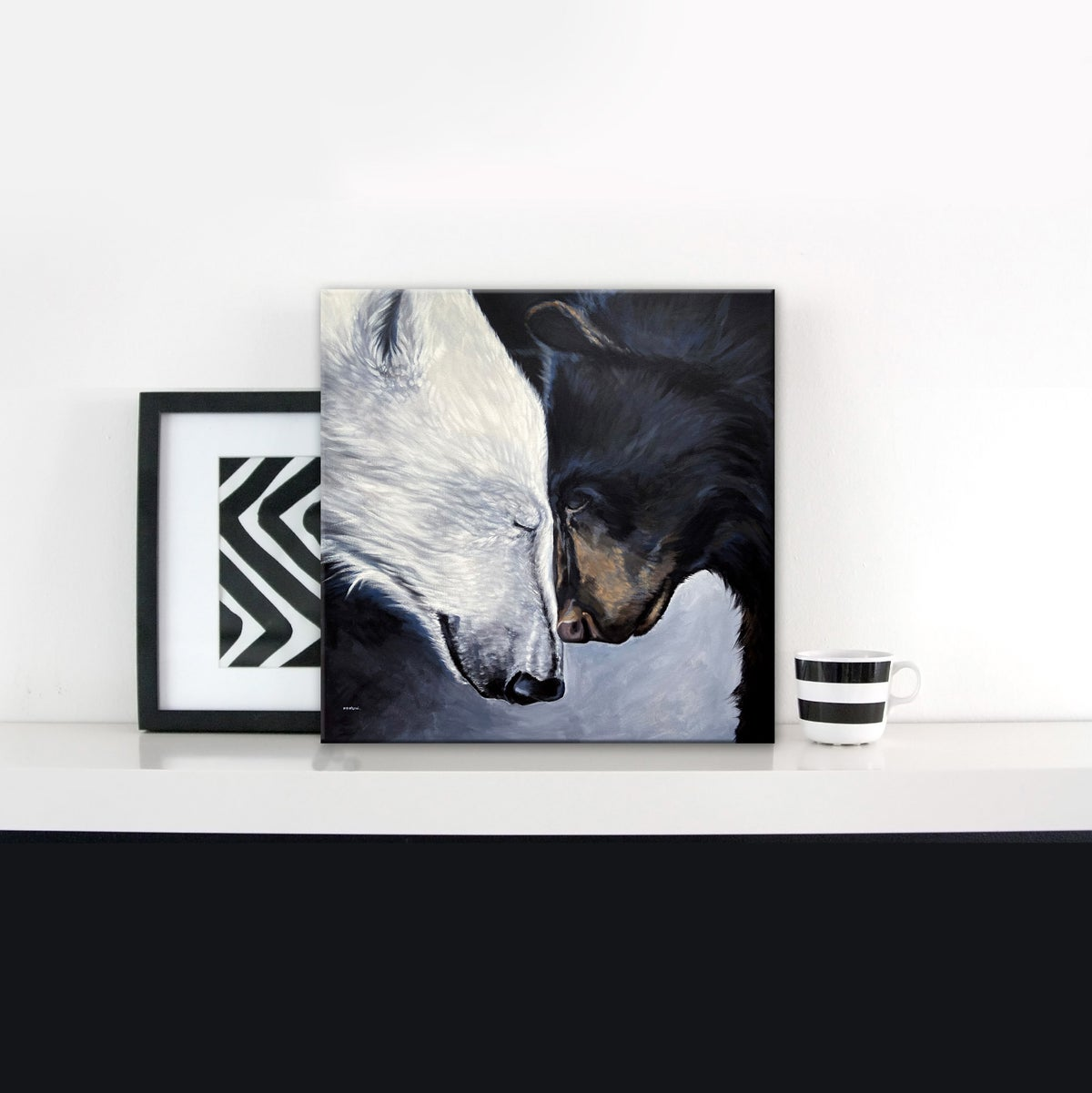 Image of 2 BEARS small print canvas