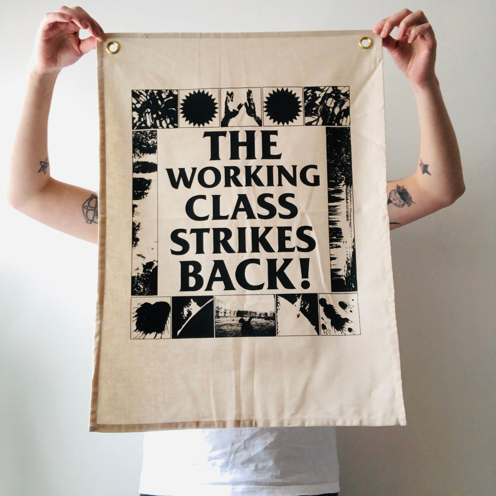 Image of The Working Class Strikes Back! fabric wall hanging