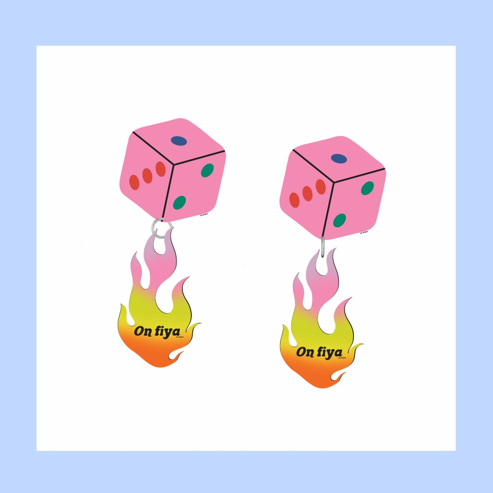 Image of On fire Earrings