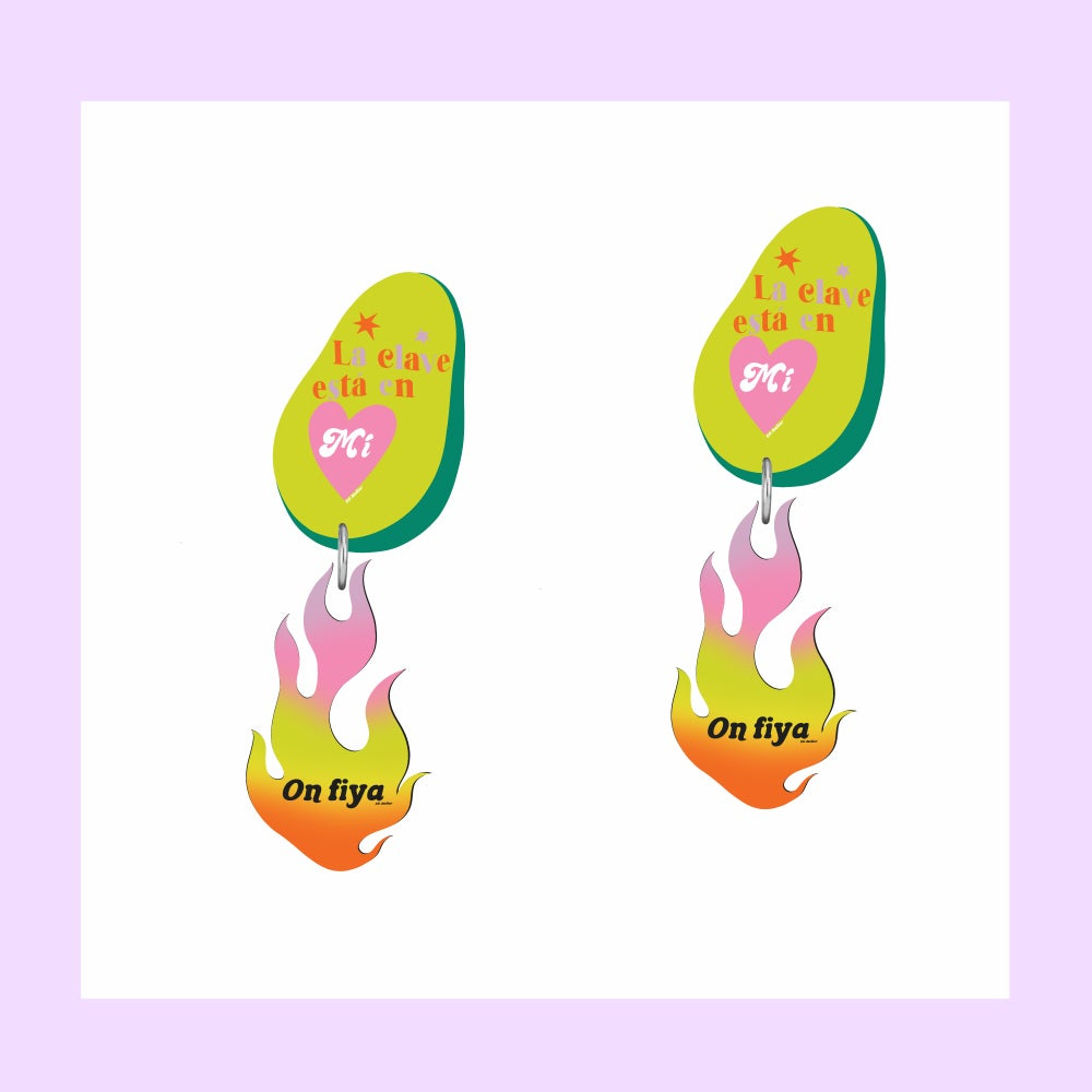Image of Burning Self Love earrings