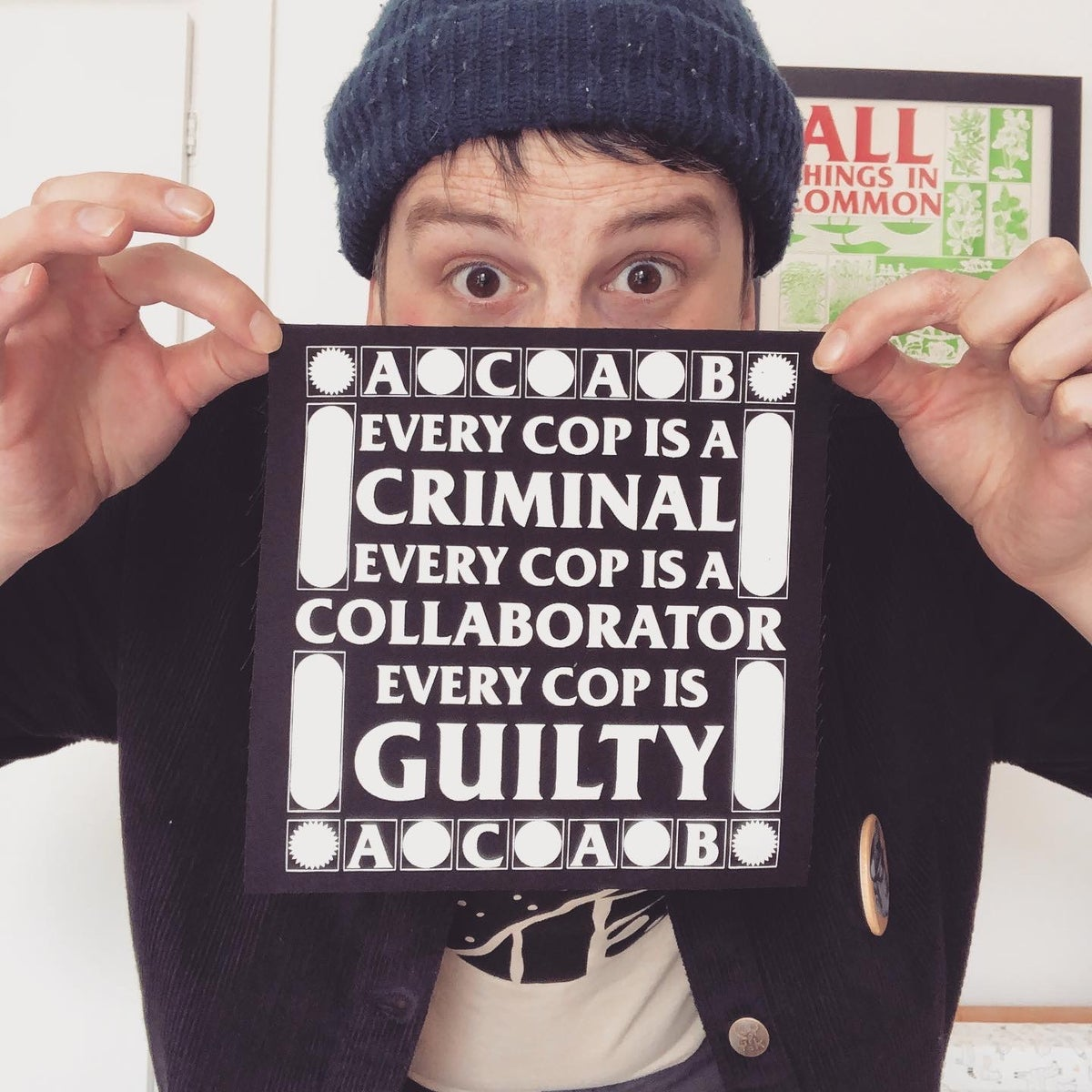 Image of ACAB large fabric patch
